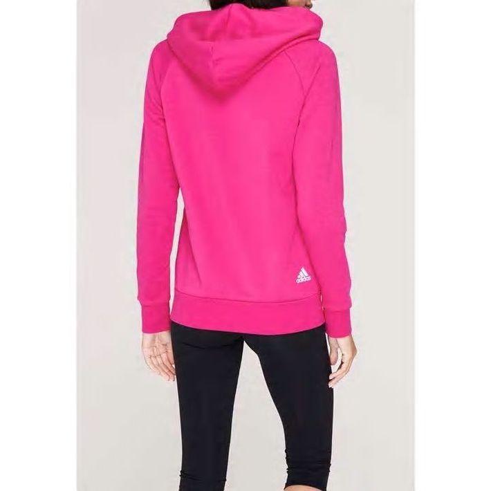 Adidas Linear, bluza damska z kapturem na zamek, różowa, Rozmiar XS