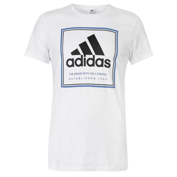 Adidas Roots, koszulka męska, biała blk, Rozmiar M