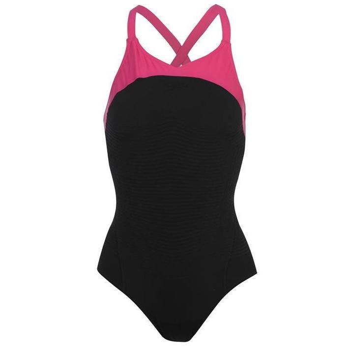 Speedo FIT Power Form XBack, strój kąpielowy, czarny, Rozmiar XXS