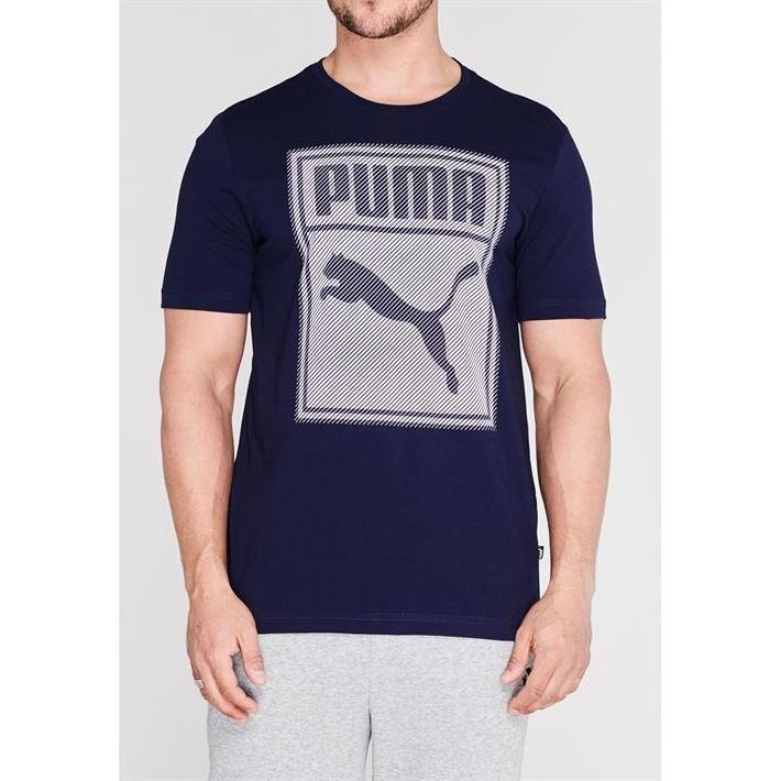 Puma Box QT, koszulka męska, granatowa, Rozmiar S