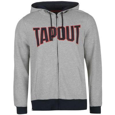 Tapout Zip bluza z kapturem, rozpinana, szara, Rozmiar M