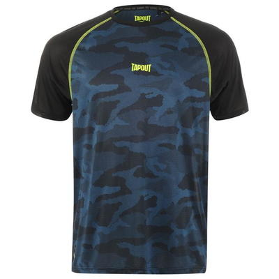 Tapout Active Camo koszulka męska, niebieska, Rozmiar L