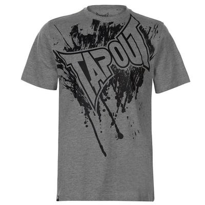 Tapout Logo Tee koszulka męska, szara, Rozmiar XXL