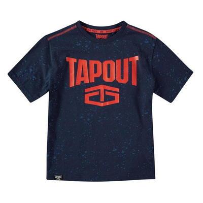 Tapout Power, koszulka dla chłopca, granatowa, Rozmiar 9-10 lat