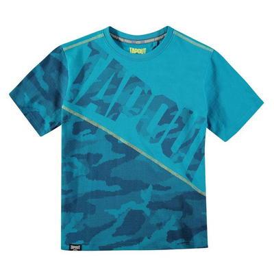 Tapout Camouflage Panel, koszulka dla chłopca, niebieska, Rozmiar 7-8 lat