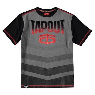Tapout Camouflage Panel, koszulka dla chłopca, czarny węgiel drzewny, Rozmiar 9-10 lat