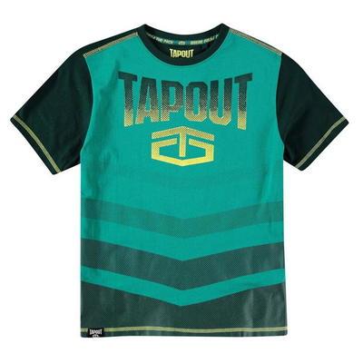 Tapout Camouflage Panel, koszulka dla chłopca, sosna, Rozmiar 9-10 lat