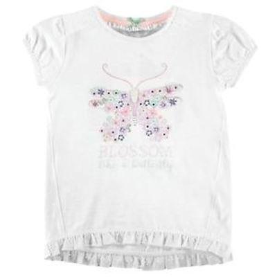 Crafted koszulka dziewczęca, Cream Marl, Rozmiar 5-6 lat