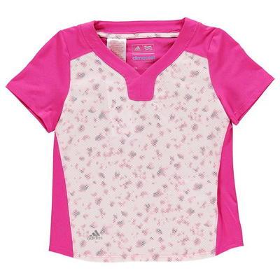 Adidas Mesh Golf koszulka dla dziewczyny, czerwona, Rozmiar 7-8 lat