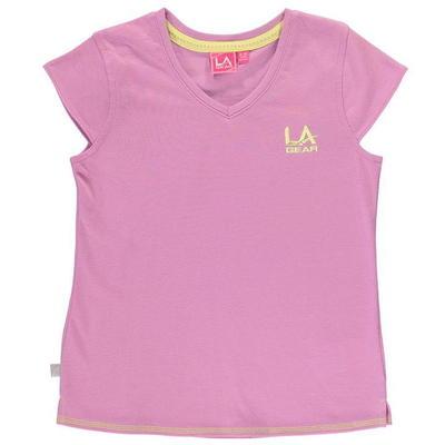LA Gear V Neck koszulka dla dziewczynek, fioletowa, Rozmiar 13 lat