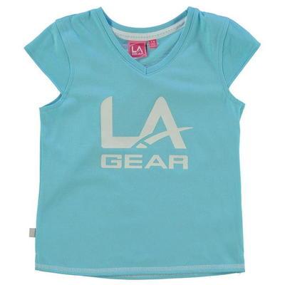 LA Gear Logo V Neck koszulka dla dziewczynki, niebieska, Rozmiar 13 lat
