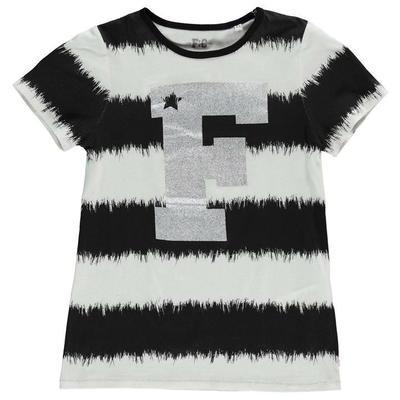 French Connection VIP koszulka dla dziewczynki, czarno biała, Rozmiar 9-10 lat