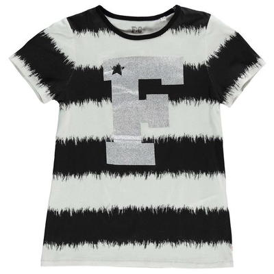 French Connection VIP koszulka dla dziewczynki, czarno biała, Rozmiar 11-12 lat