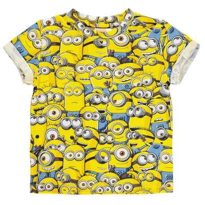 Character Sub koszulka dla chłopców, Minions, Rozmiar 9-10 lat