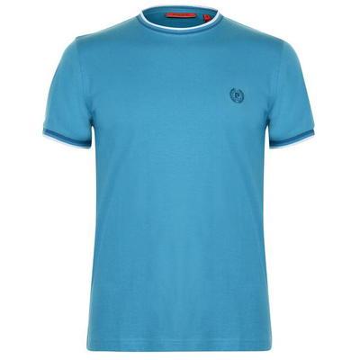 Pierre Cardin Retro koszulka męska, turkusowa, Rozmiar XL