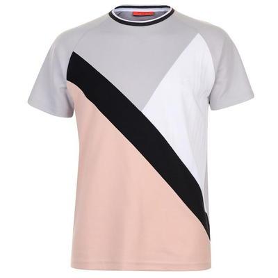 Pierre Cardin Retro Sport koszulka męska, szara/czarn/różowa, Rozmiar S