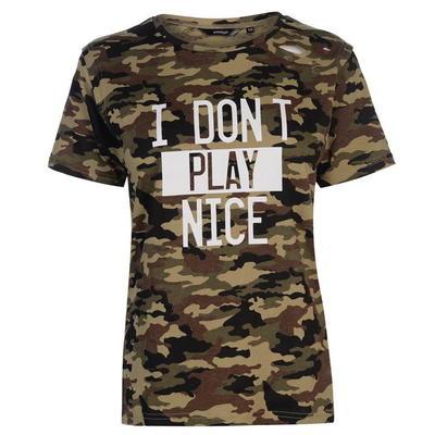 Golddigga Army Ripped koszulka damska, Camo AOP, Rozmiar XL