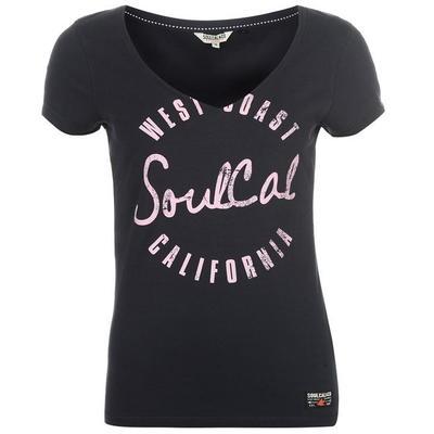 SoulCal Fashion Logo koszulka damska, granatowa, Rozmiar L