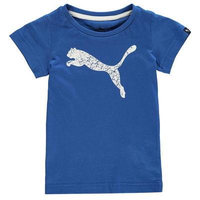 Puma Big Cat, koszulka dla chłopca, niebieska, Rozmiar 5-6 lat