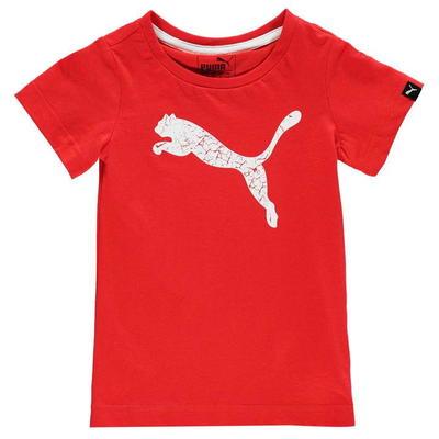 Puma Big Cat, koszulka dla chłopca, czerwona, Rozmiar 5-6 lat