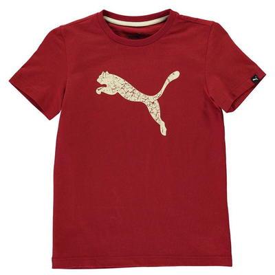Puma Big Cat koszulka dla chłopców, czerwona brzoza, Rozmiar 7-8 lat