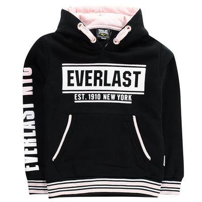 Everlast Hoodie, bluza dla dziewczynek, czarno różowa, Rozmiar 7-8 lat