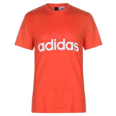 Adidas Linear Logo, koszulka męska, czerwone, Rozmiar L