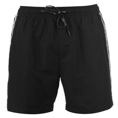 Calvin Klein, Klein Taped, spodenki kąpielowe, czarne, Rozmiar L