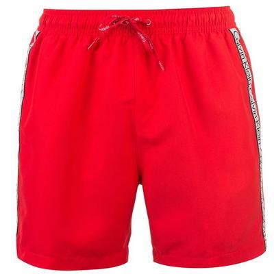 Calvin Klein, Klein Taped, spodenki kąpielowe, czerwone, Rozmiar XL
