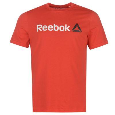 Reebok Delta Logo, koszulka męska, czerwona, Rozmiar M