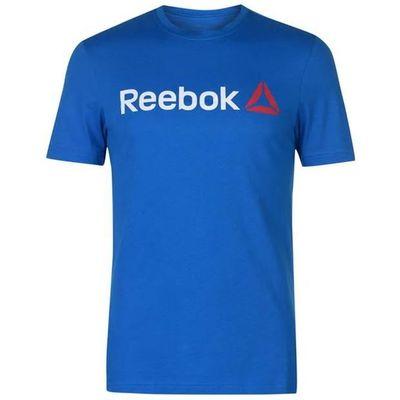 Reebok Delta Logo, koszulka męska, niebieska, Rozmiar M