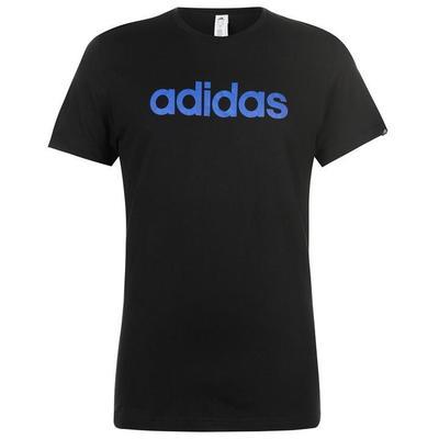 Adidas Linear Logo, koszulka męska, czarna, Rozmiar M