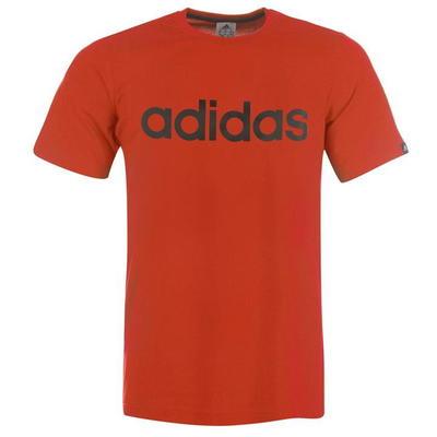Adidas Linear Logo, koszulka męska, czerwona, Rozmiar M