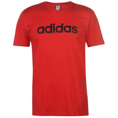 Adidas Linear Logo, koszulka męska, czerwona, Rozmiar XXL