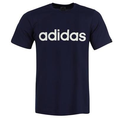 Adidas Linear Logo, koszulka męska, granatowa, Rozmiar M