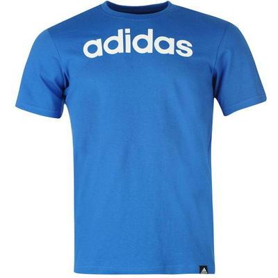 Adidas Linear Logo, koszulka męska, niebieska, Rozmiar S