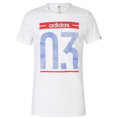 Adidas 03, koszulka męska, biała, Rozmiar XXL