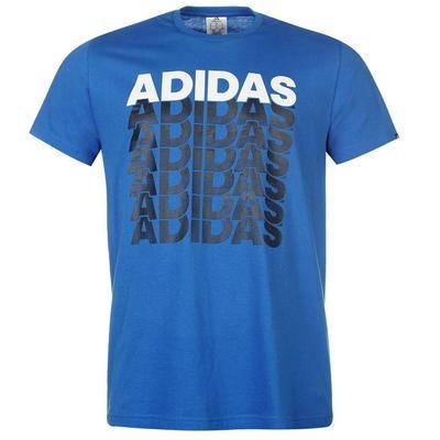 Adidas Repeated Linear, niebieska, Rozmiar S