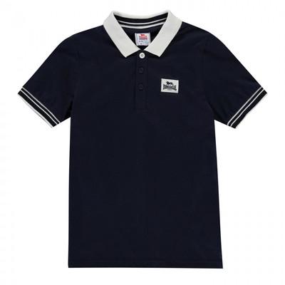 Lonsdale Jersey Polo koszulka dla chłopca, granatowa, Rozmiar 7-8 lat