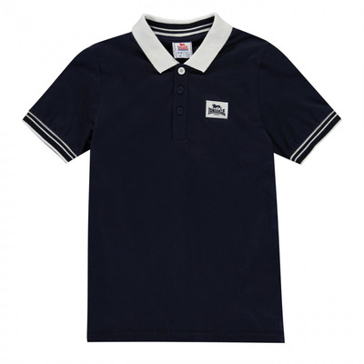 Lonsdale Jersey Polo koszulka dla chłopca, granatowa, Rozmiar 11-12 lat