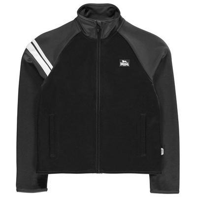 Lonsdale 2 Stripe, kurtka dresowa dla chłopca, czarna, Rozmiar 7-8 lat