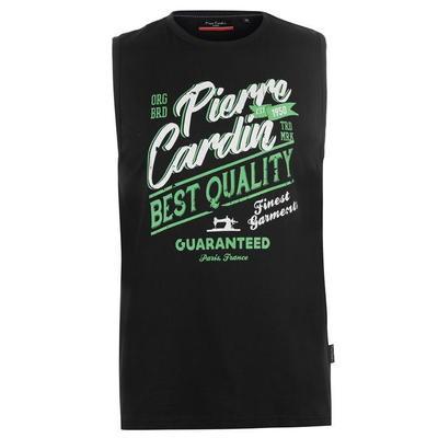 Pierre Cardin Graphic, koszulka męska bez rekawów, czarna, Rozmiar  M