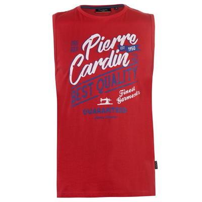 Pierre Cardin Graphic, koszulka męska bez rekawów, czerwona, Rozmiar M