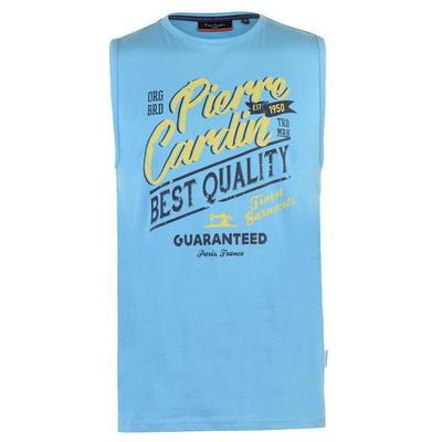 Pierre Cardin Graphic, koszulka męska bez rekawów, niebieska, Rozmiar M