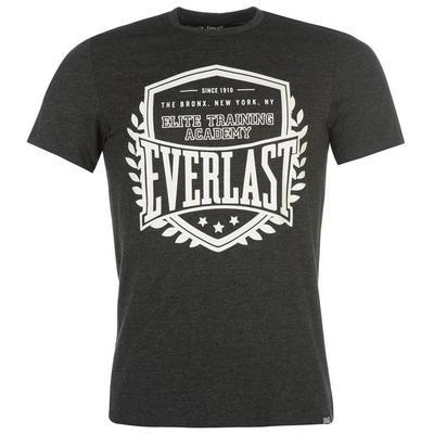 Everlast Logo, koszulka męska, węgiel drzewny, Rozmiar XS