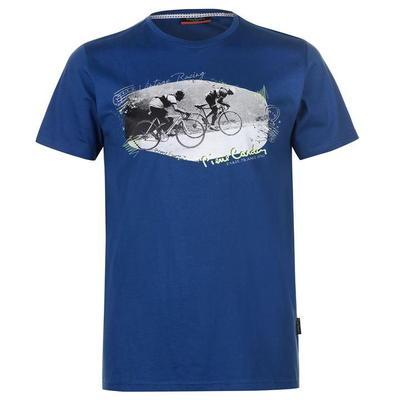 Pierre Cardin Print, koszulka męska, niebieski mid, Rozmiar L