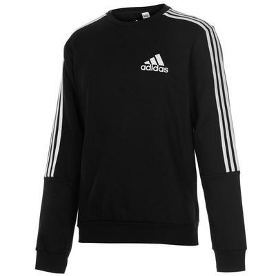 Adidas 3 Stripes Crew, bluza męska, czarna, Rozmiar XL
