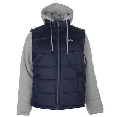 Lee Cooper Sweater Sleeve, kurtka męska z kapturem na zamek,  granatowa, Rozmiar M