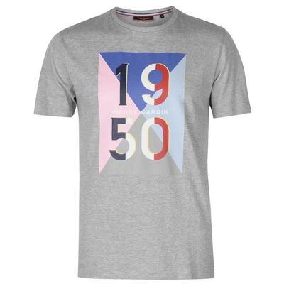 Pierre Cardin 1950, koszulka męska, szara, Rozmiar S