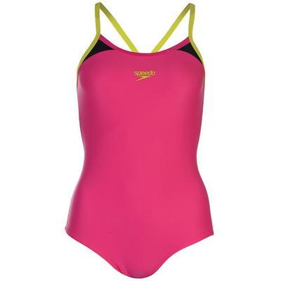 Speedo Splice Thinstrap Racerback, strój kąpielowy, różowy, Rozmiar XL